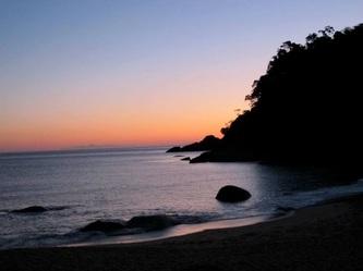 Pôr do sol na praia da Ponta Negra - Cachoeira do Saco Bravo + Praias da Costa Verde